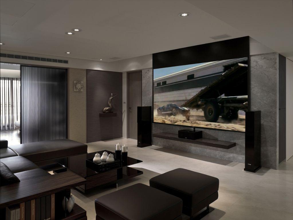 现代家装客厅影院效果图