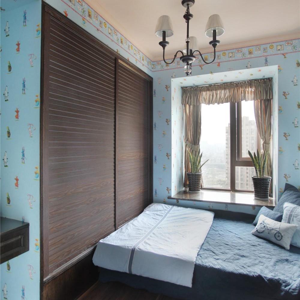 清新乡村美式卧室效果图