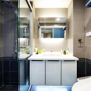 混搭风格卫生间洗手台设计