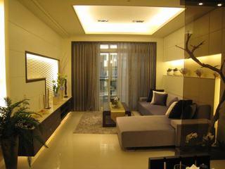 中性暖色调简中式二居室装修