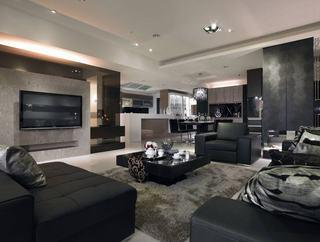 时尚现代公寓黑色家装效果图