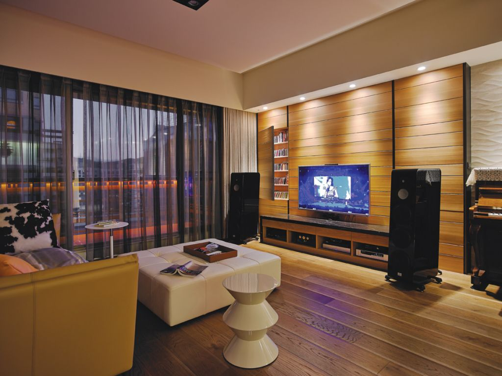 现代简约创意客厅 电视背景墙鉴赏
