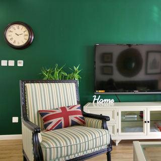 新古典风 绿色电视背景墙设计