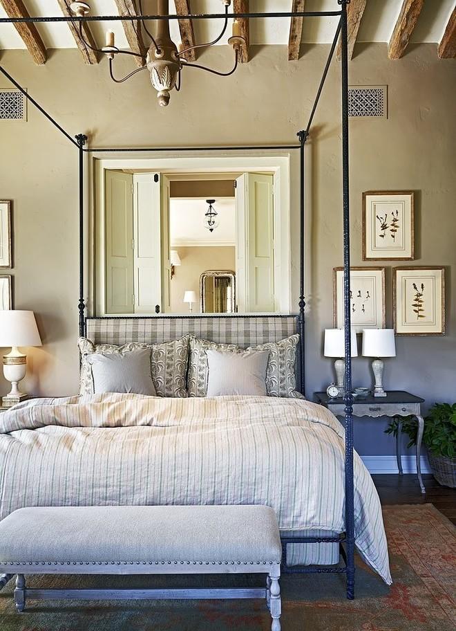乡村北欧风情卧室双人床设计
