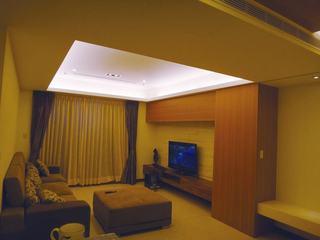 温馨暖色调宜家日式二居装潢效果图