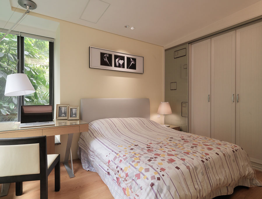 简约日式设计卧室装修图