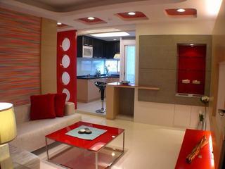 现代小户型公寓红色家装欣赏图