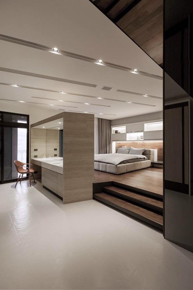 实木现代简约卧室隔断效果图