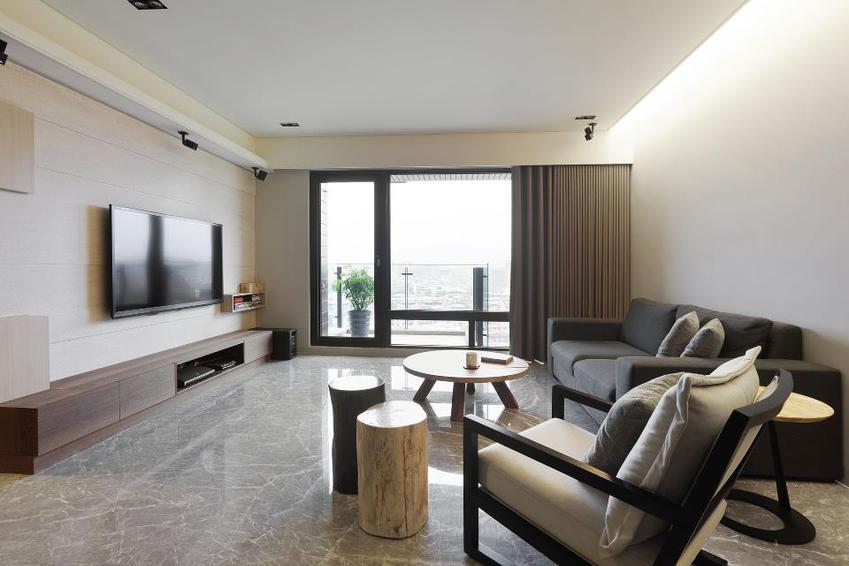 55平现代一居装修设计效果图