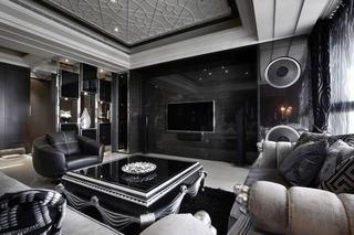 黑色系简欧后现代混搭别墅设计