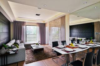 摩登黑色现代二居装潢案例图