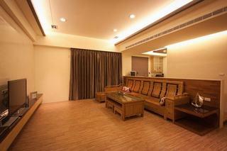 温馨暖咖色中式 三室两厅美宅欣赏