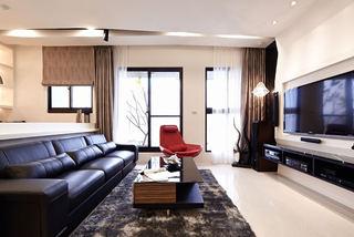 现代125平三室两厅装修效果图