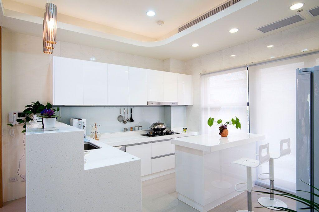 纯白现代家居厨房效果图
