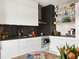 黑白时尚北欧厨房装饰图