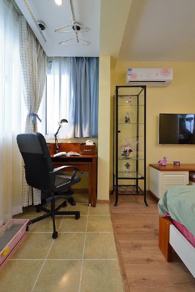 乡村美式卧室窗帘效果图