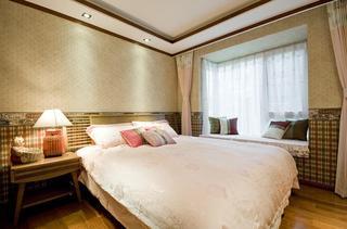 清新禅意东南亚卧室飘窗设计