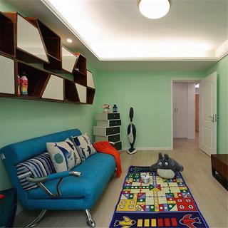 清新绿色混搭风 儿童房设计