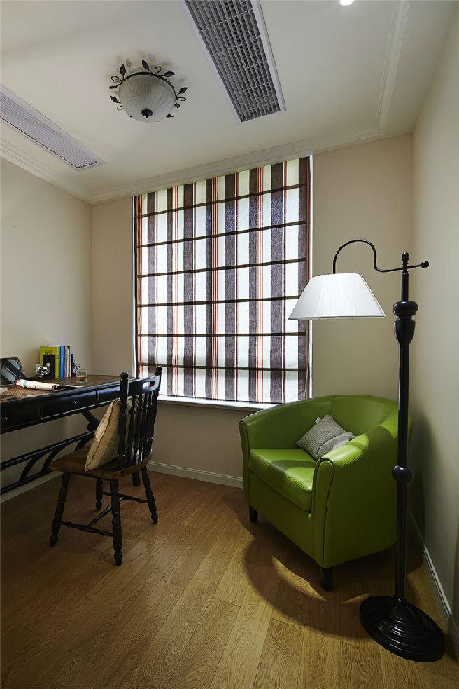 美式风格设计书房落地灯装饰效果图
