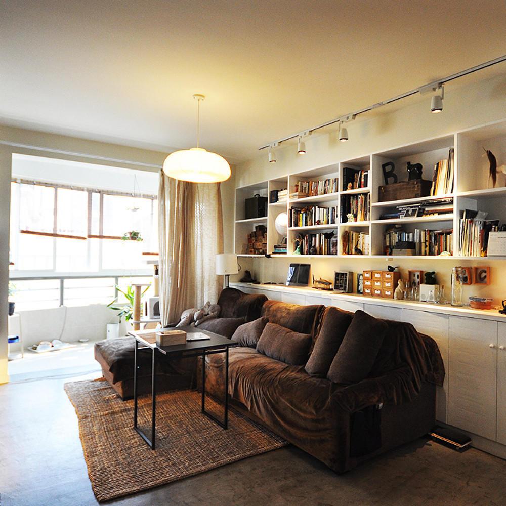 北欧工业风混搭 客厅沙发效果图