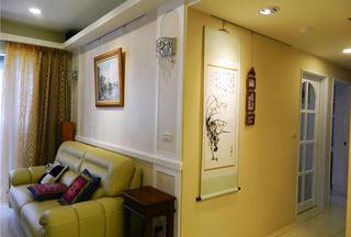 优雅现代60平方两室一厅装修实景图