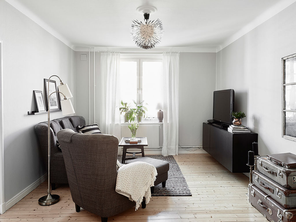 简洁北欧客厅装修效果图