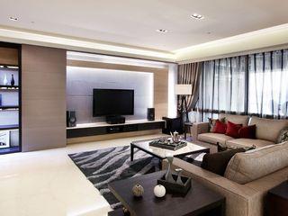 时尚美式客厅 电视背景墙设计