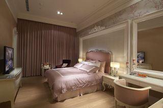 浪漫法式卧室窗帘效果图