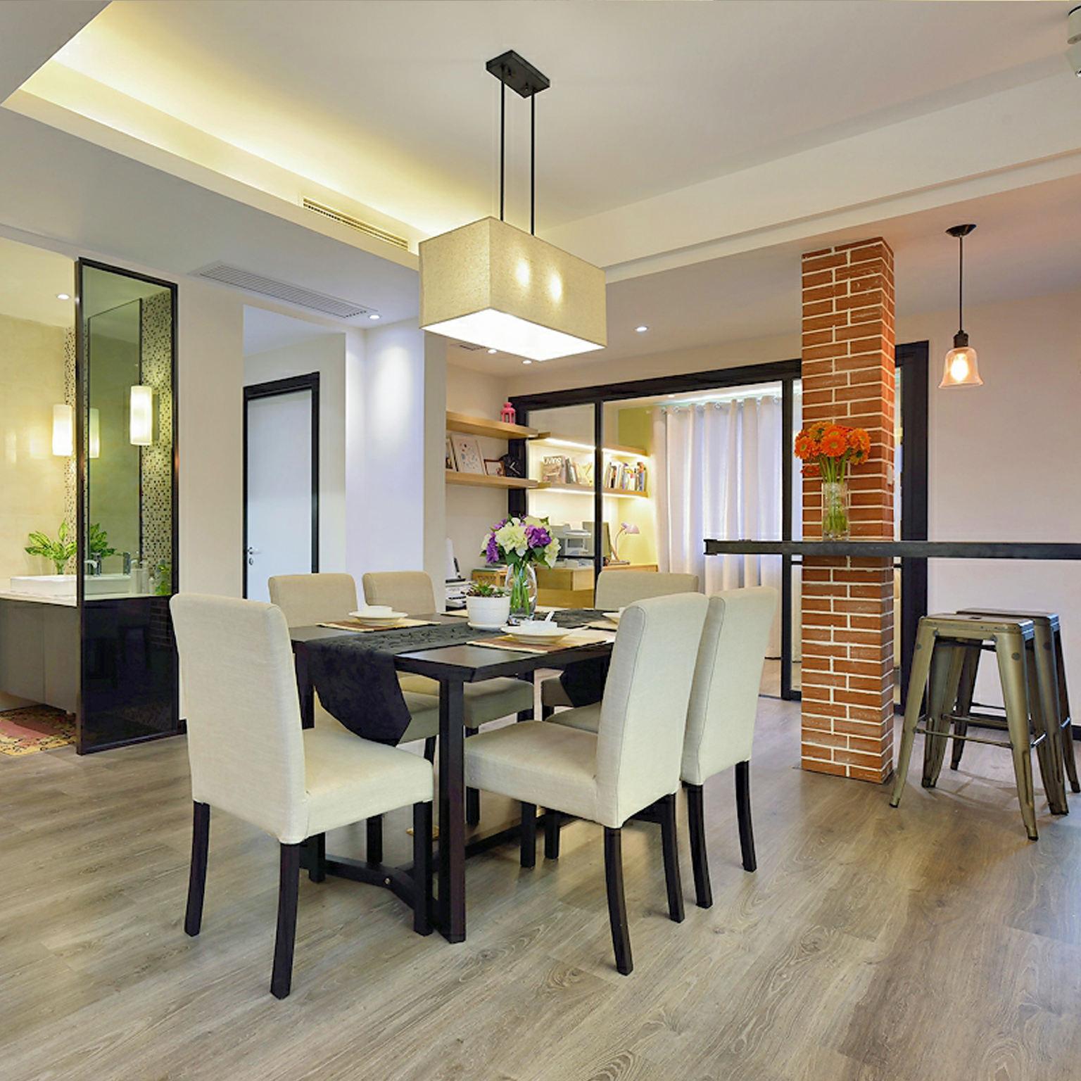 时尚现代家居餐厅布置效果图