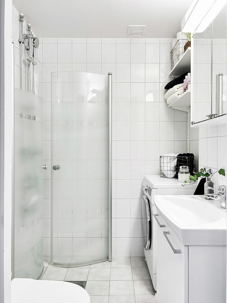 纯白北欧卫生间装修效果图