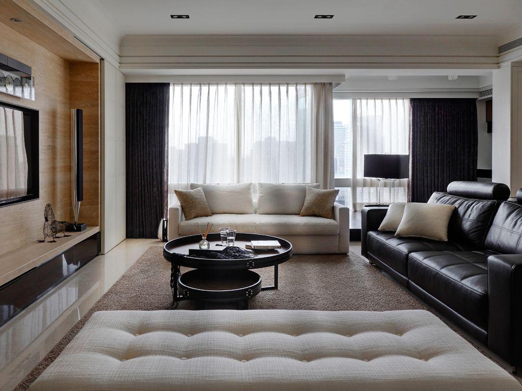 美式现代三居客厅家装图片