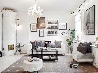 黑白灰北欧客厅装饰效果图