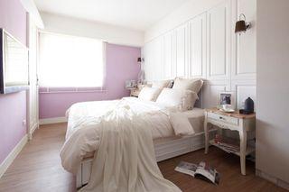 浪漫紫色简欧卧室效果图