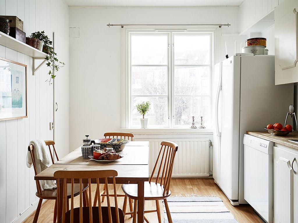 北欧风餐厅 白色窗户效果图