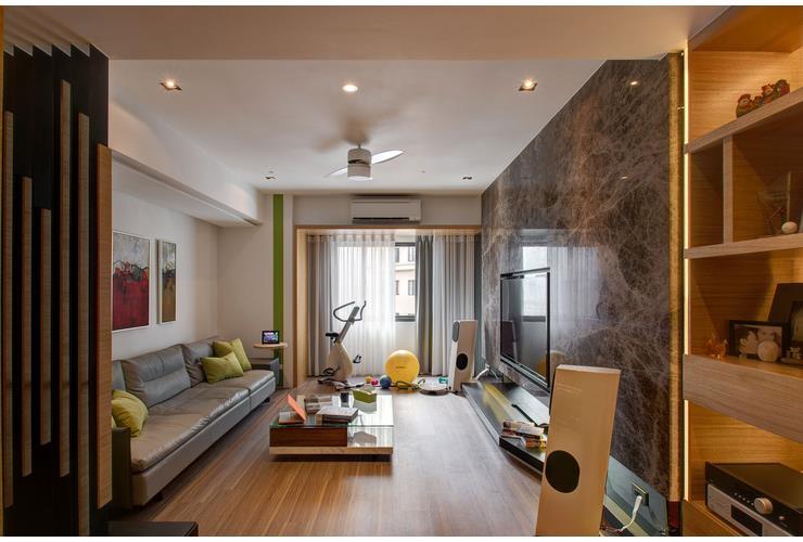 创意混搭现代一居室家居设计装修效果图