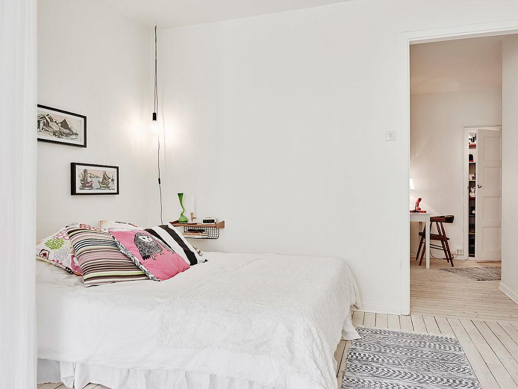 简洁北欧卧室装潢效果图