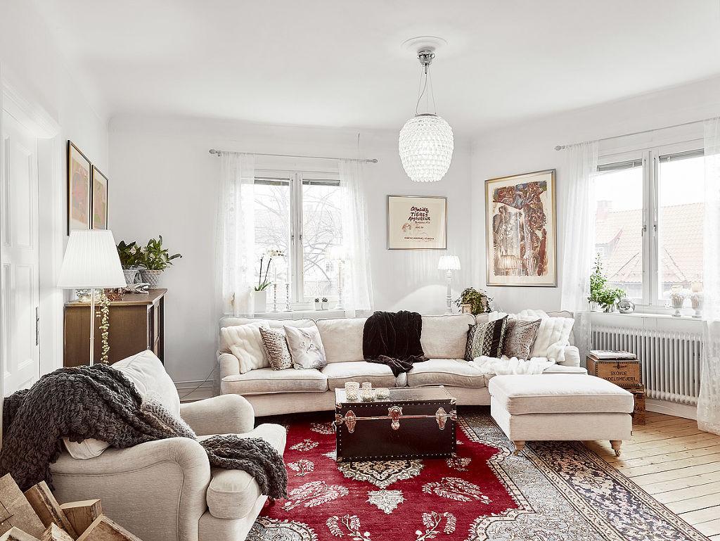 舒适北欧风客厅沙发效果图