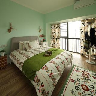 大自然清新混搭家居卧室软装装饰欣赏图
