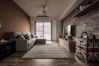 古朴美式风格客厅装修效果图
