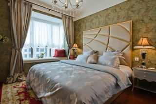 混搭法式宫廷风卧室飘窗设计装修图