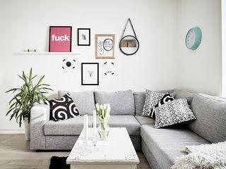 简洁北欧风客厅装饰画欣赏