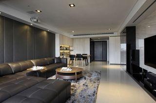 时尚后现代 客厅真皮沙发装饰图