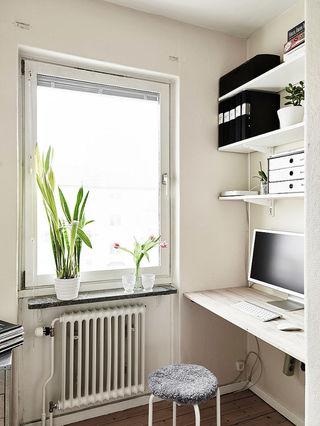 北欧小户型书房书架设计