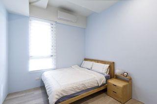 清爽极简日式 蓝色卧室设计
