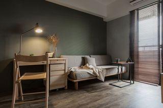 美式风格实木书桌椅装饰图