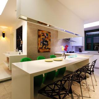 日式简约餐厅大理石餐桌设计