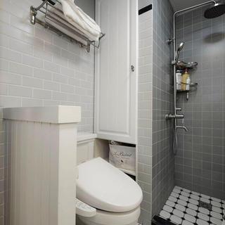 灰色現代衛生間裝飾圖