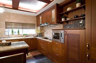 东南亚自然风情家居厨房设计装潢图