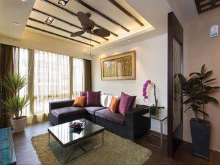 后现代风格客厅沙发装饰图
