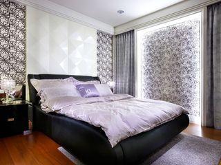 摩登简欧风卧室背景墙设计